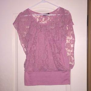 Tops - Floral & lace dress blouse